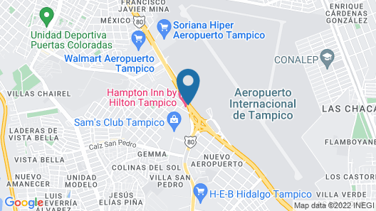 Hampton Inn by Hilton Tampico Map