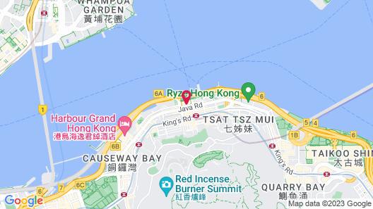 Hyatt Centric Victoria Harbour Hong Kong Map
