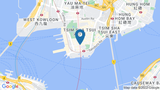 Peace Guest House - Hong Kong Map