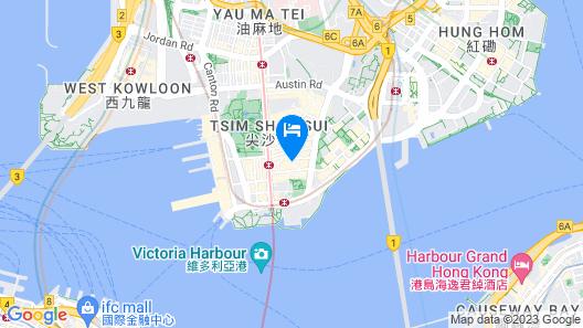Hyatt Regency Hong Kong, Tsim Sha Tsui Map