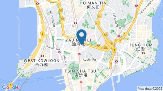 Travelodge Kowloon Map