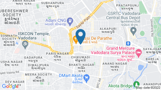 Welcomhotel Vadodara - ITC Hotels Group Map