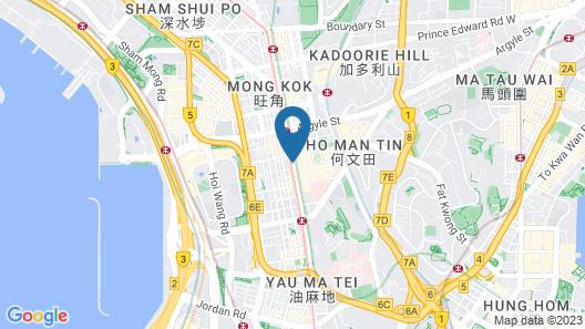 Kowloon Mongkok 1812 Guest House Map