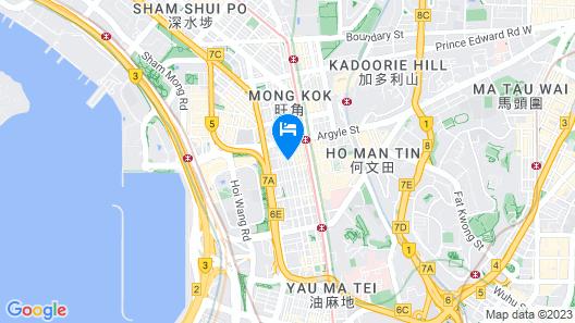 Cordis, Hong Kong Map