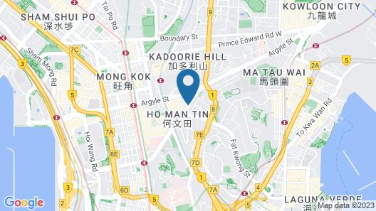 Metropark Hotel Kowloon Map