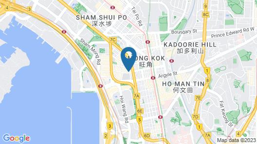 iclub Mong Kok Hotel Map