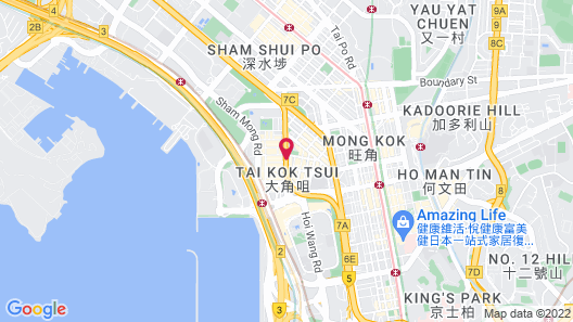 Rosedale Hotel Kowloon Map