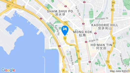 Rosedale Hotel Kowloon Map