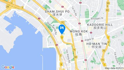 Dorsett Mongkok, Hong Kong Map