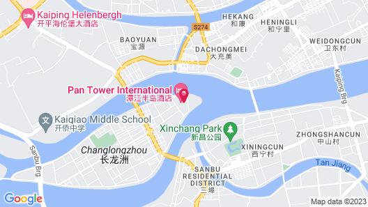 Pantower International Hotel Map