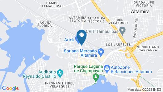 Hotel La Avenida Map