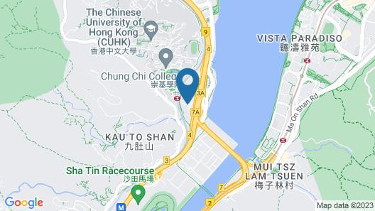 Hyatt Regency Hong Kong, Sha Tin Map