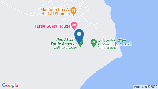 Ras Al Jinz Turtle Reserve Map
