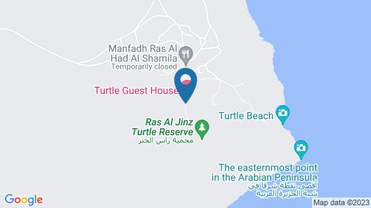 Ras Al Jinz Turtle Guest House Map