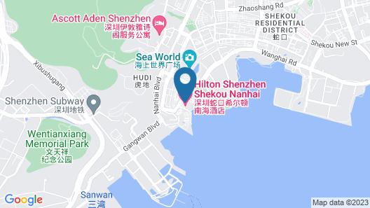Hilton Shenzhen Shekou Nanhai Map