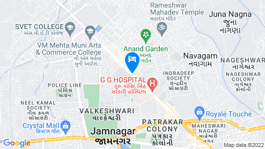 Nanda Comfort Inn Map