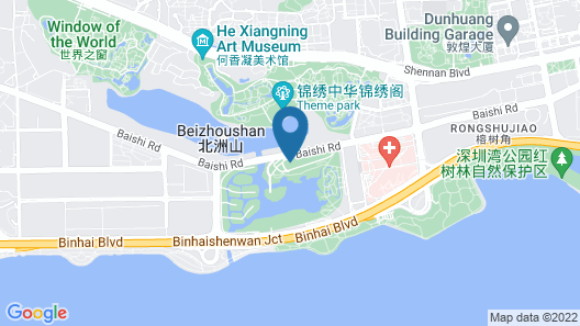 The Oct Harbour, Shenzhen - Marriott Executive Apartments Map