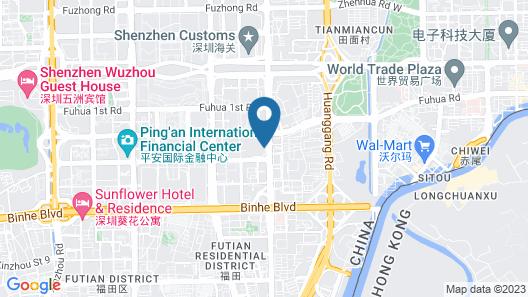 Wyndham Grand Shenzhen Map
