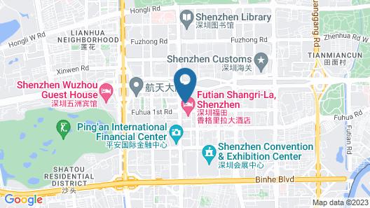 Sheraton Shenzhen Futian Hotel Map