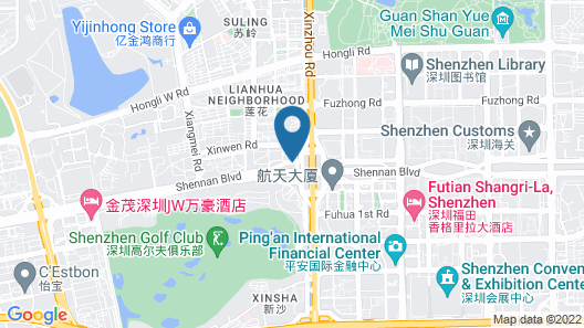 Crowne Plaza Shenzhen Map