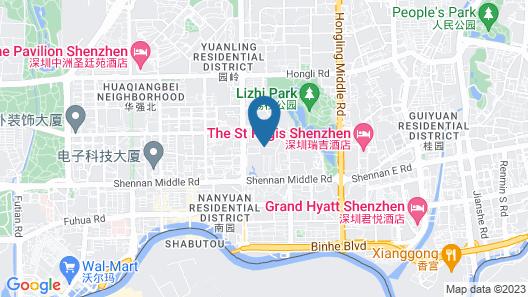 Novotel Shenzhen Watergate Map