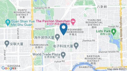 Shanshui Trends Hotel North Huaqiang Map