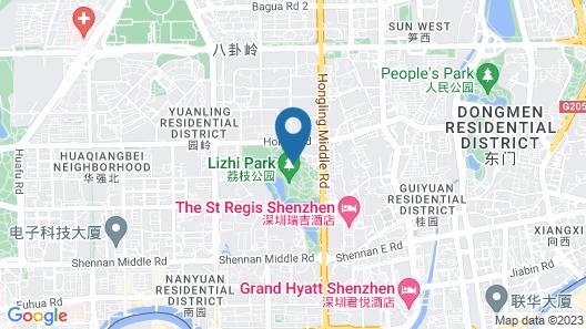 The St. Regis Shenzhen Map