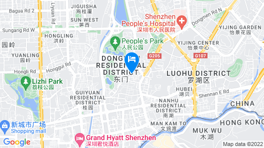 Colour Inn Shenzhen Dongmen Branch Map