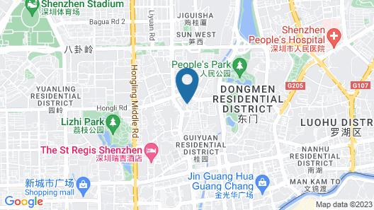 Holiday Inn Express Shenzhen Luohu Map