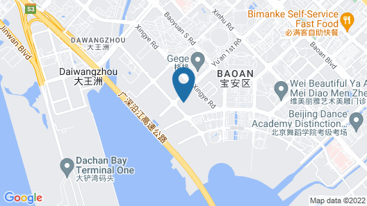 JW Marriott Hotel Shenzhen Bao'an Map