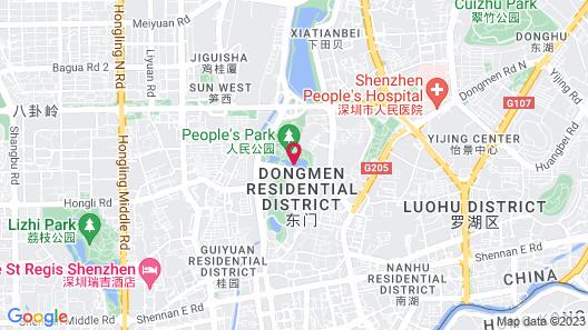 Metropark Hotel Shenzhen Map