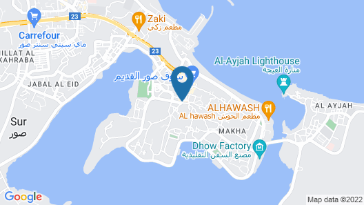 Sur Hotel Map