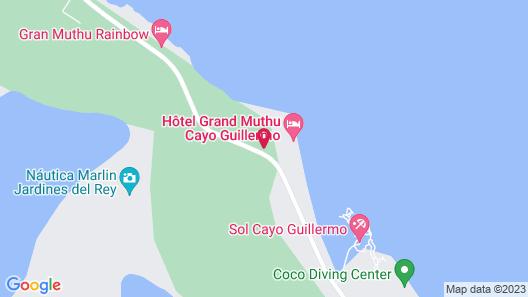 Hotel Grand Muthu Cayo Guillermo Map
