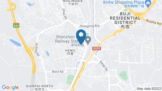Rui Du Hotel Shenzhen Map