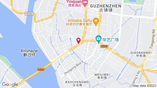 7 Days Sunshine Zhongshan Gu Zhen Branch Map