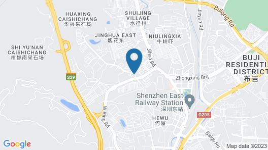 GreenTree Inn Guangdong Shenzhen Buji Long Dragon Express Hotel Map
