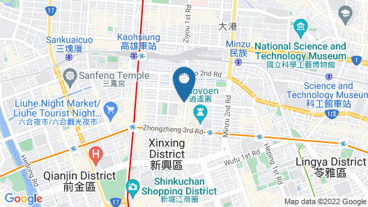 Howard Plaza Hotel Kaohsiung Map