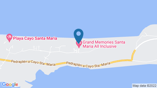 Grand Memories Santa Maria - All Inclusive Map