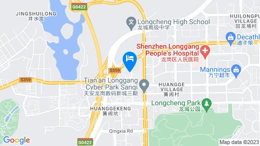Aloft Dongguan Dynamic Town Map