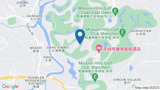 Mission Hills Resort Shenzhen Map