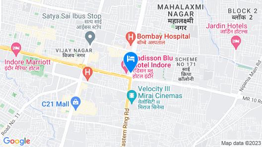 Radisson Blu Hotel Indore Map