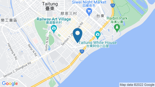 Hoya Resort Hotel Taitung Map
