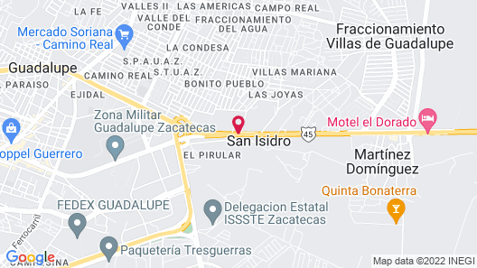 Hotel Hacienda Real Map