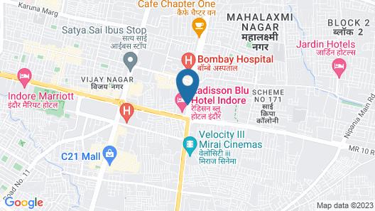 Effotel Hotel Indore Map