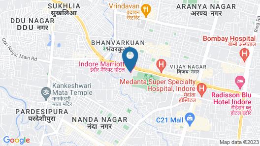 Fortune Landmark Indore Map