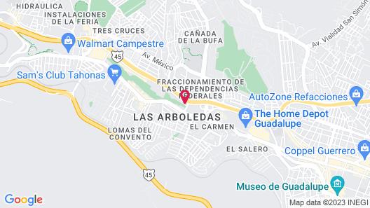 Capital O Hotel Casa Real Zacatecas Map