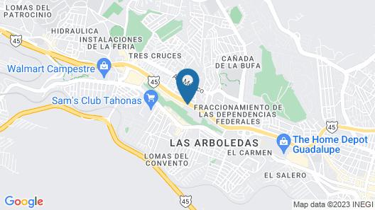 Hotel Plaza Zacatecas Map