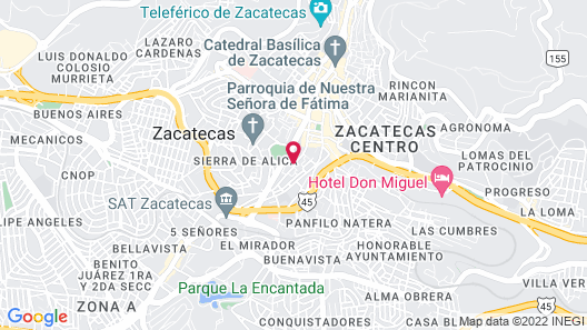 Quinta Real Zacatecas Map