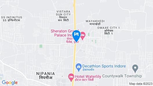 Sheraton Grand Palace Indore Map