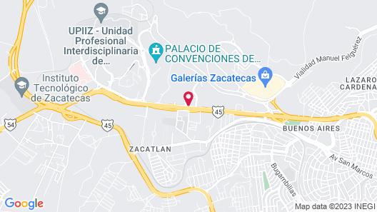 Hampton Inn by Hilton - Zacatecas, Mexico Map